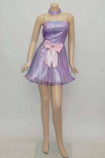 glossオリジナル チョーカー付き ショートドレス
