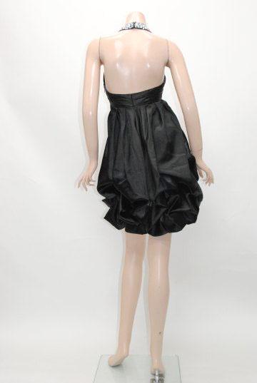 かぼちゃバルーンホルタービジュー ショートドレス
