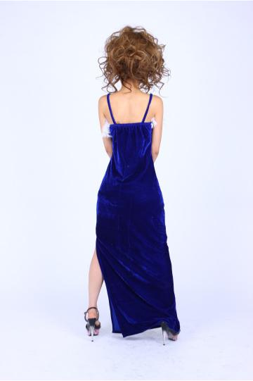 フェイクファーベロア ロングドレス