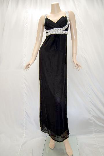 エスニック風エンパイヤ ロング ドレス