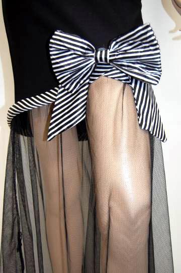 ラブリー足魅せ リボン ロングドレス