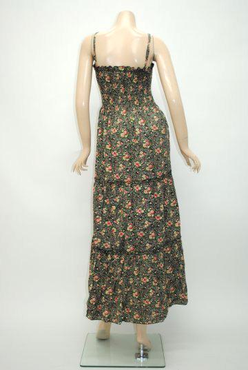 ラブリー小花柄 ロングドレス