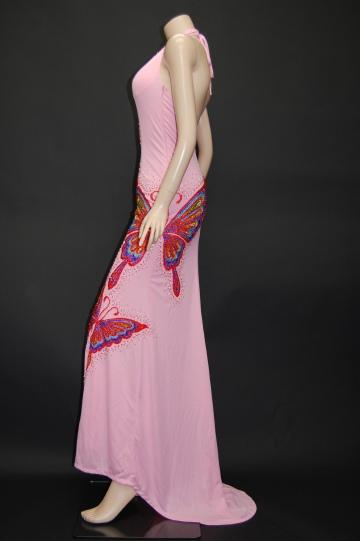夜蝶★豪華ビーズ刺繍 ロングドレス