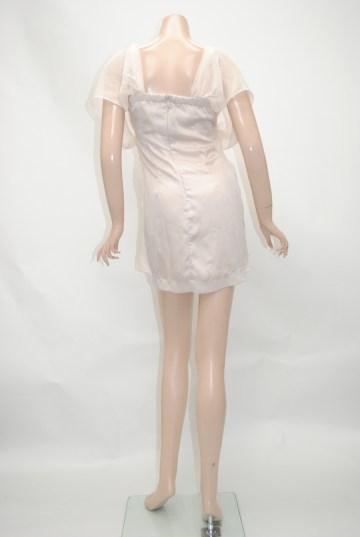 カシュクールトライアングルビジュ ショートドレス