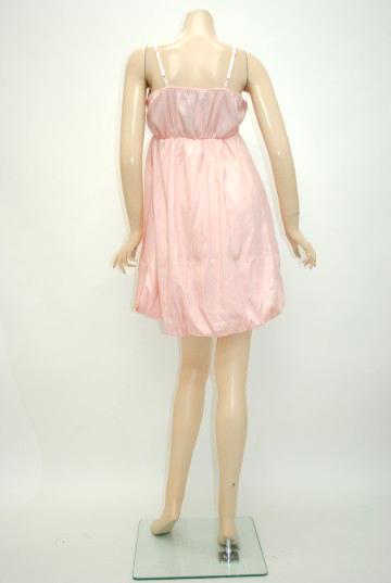 デカバラコサージュバルーン ショートドレス