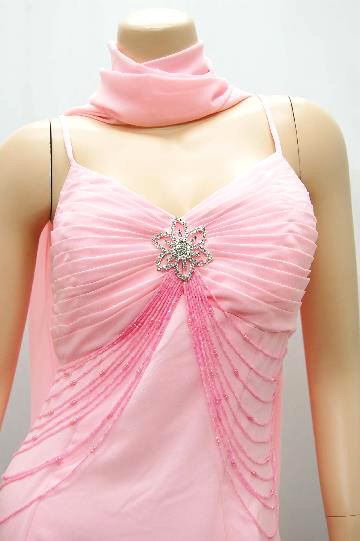 キラキラ飾り&ビーズ付き ロングドレス