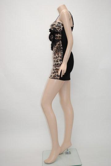 アニマル柄スパンコール ショートドレス