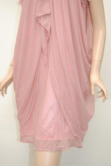 ダブルドレープライン ショートドレス