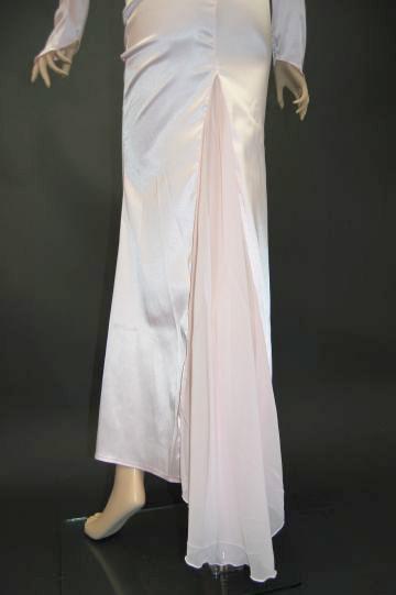 フラワーコサージュ ロングドレス