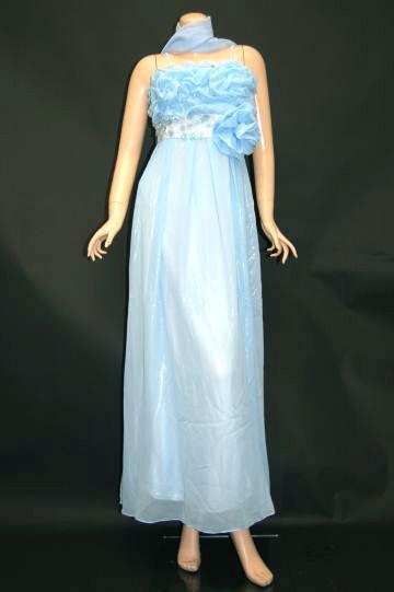胸元ゴージャスラインストーン ロングドレス