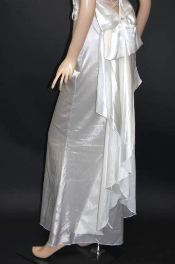 ゴージャスバックリボン&フリル ロングドレス