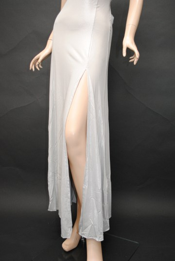 背中セクシークロス ロングドレス