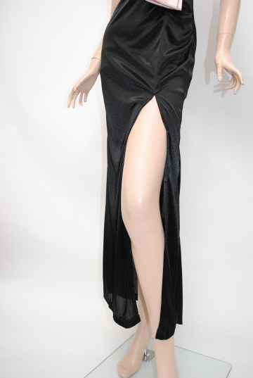 ビジュー付きビックリボン ロングドレス