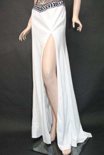 ウエスト&胸元魅惑のshine ロングドレス