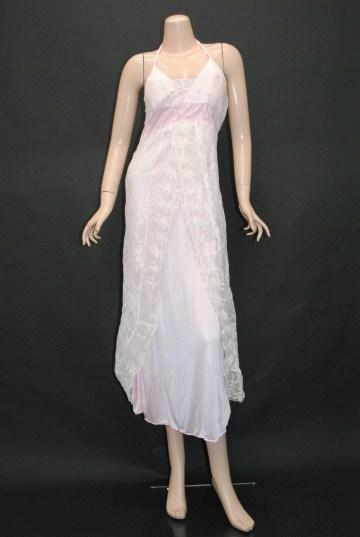 レースフェミニン ロングドレス