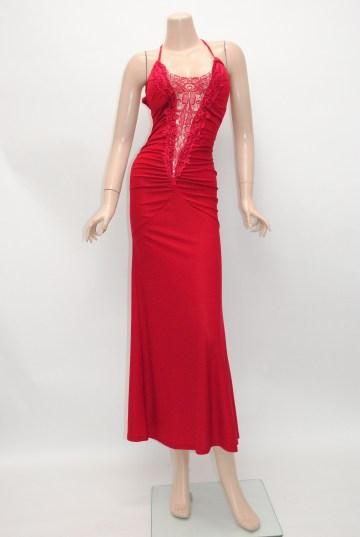 透けレース グラマラス ロングドレス
