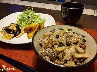 May07_筍ときのこの炊込みご飯