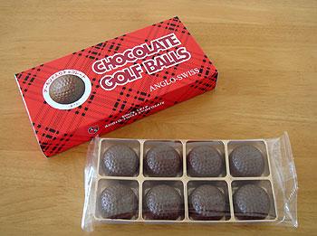ゴルフボール型チョコレート