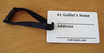 #1 ゴルファー バッグタグ