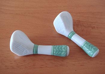 ゴルフクラブ型箸置き
