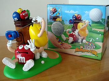 m&m's チョコのゴルフ!ディスペンサー