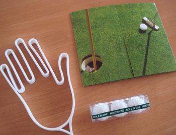 送料無料のゴルフ雑貨 3点セット