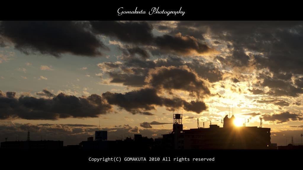 2010/10/15自宅より西の空を見る