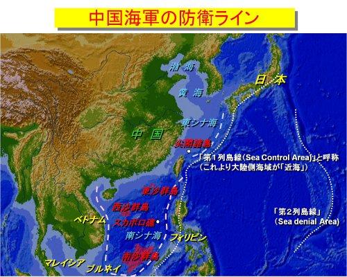 中国海軍の防衛ライン