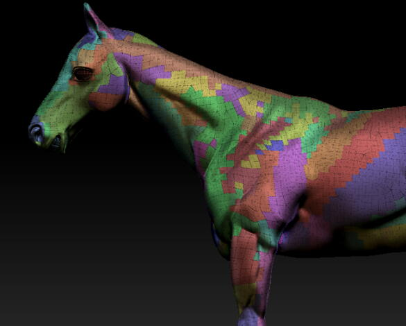 horse 馬 モデリング