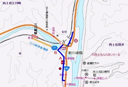 川崎橋地図