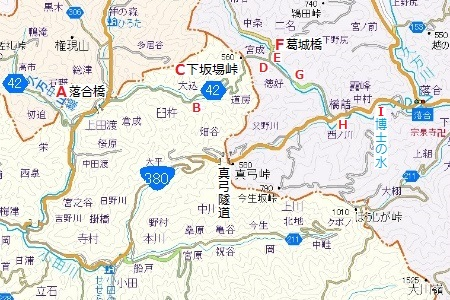 下坂場峠地図