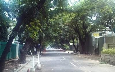 の道路ジャカルタ 住宅街