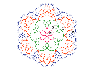 ドイリー T2 編み図