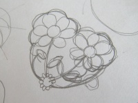 お花のハート アイデアスケッチ