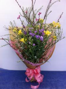 桃の花の花束