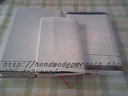 ブックカバー型紙