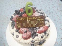 ムスメ6歳BDケーキ♪