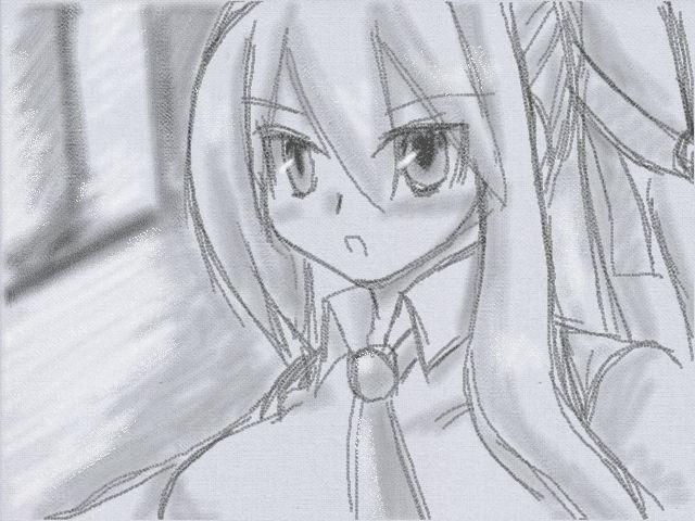 鉛筆描きヒスイ