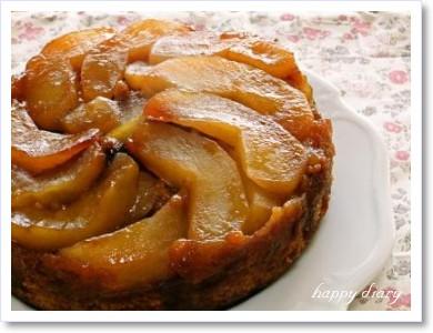 リンゴとシナモンのケーキ