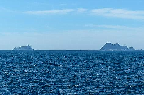 白島が見える♪
