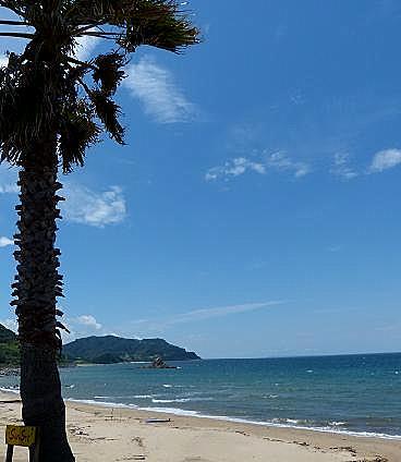 糸島の海岸で♪