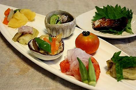 野菜の盛り合わせとお魚♪
