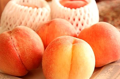 桃を頂いて♪