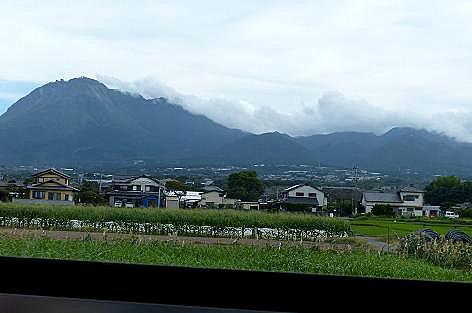 普賢岳は雲に♪