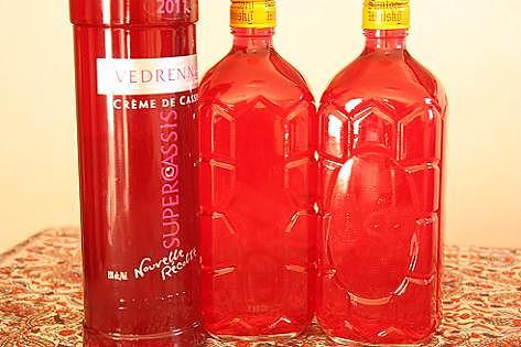 お酒の瓶で保存♪