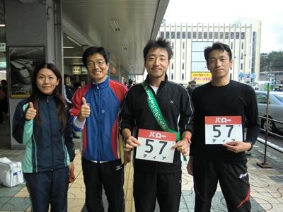 左から 私、木曽路アスリートさん、K太郎君、K田さん