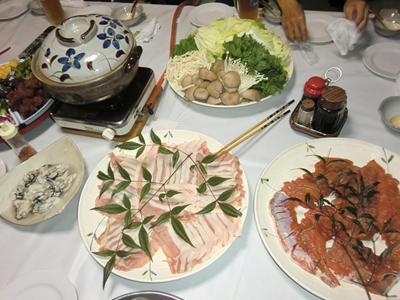 キムチ鍋と石狩鍋