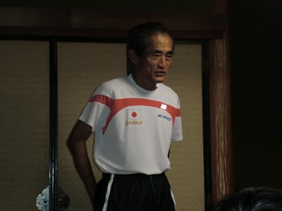 日本代表のウエアを着たNakayoshiさん