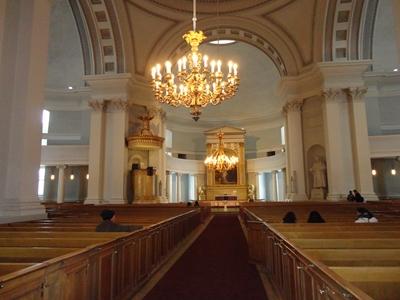 教会ホール内