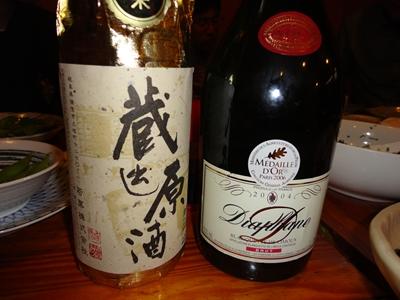 日本酒とシャンパン